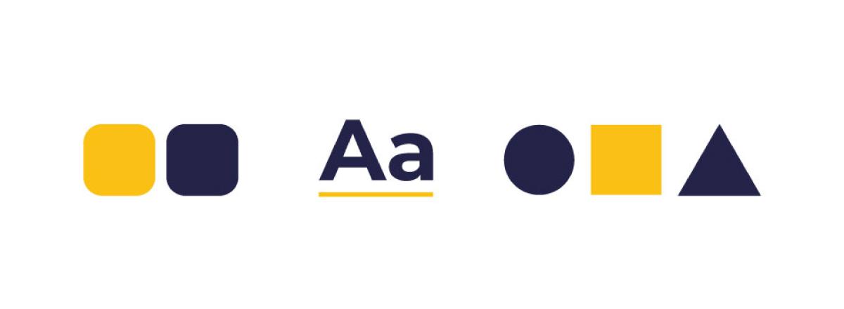 logodesign icone colore font e forme