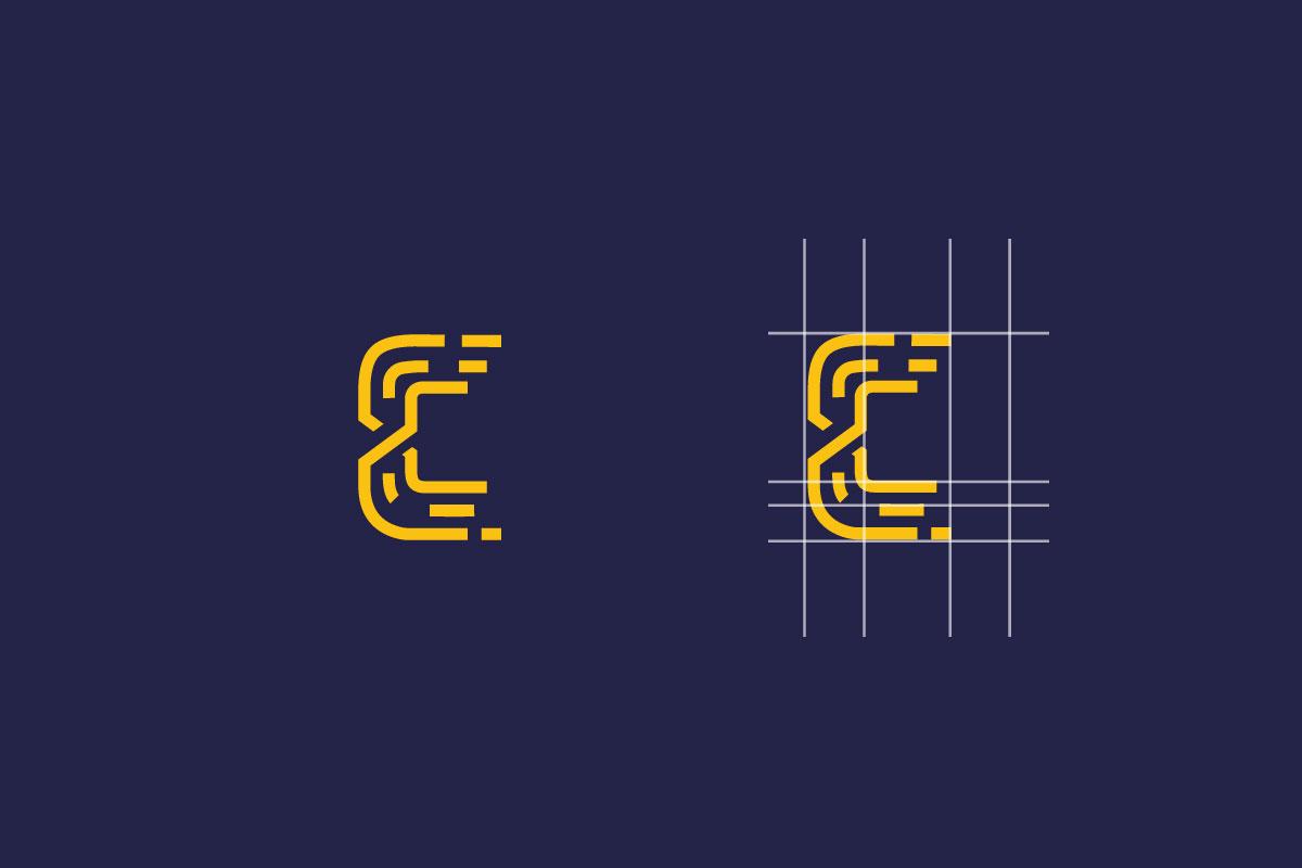 Esempio di costruzione del logo Catellani settore elettronica industriale